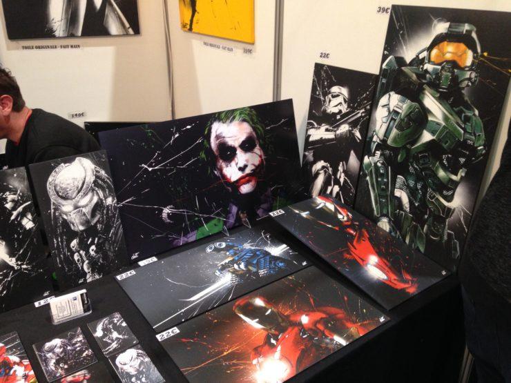 tableau geek, joker, batman