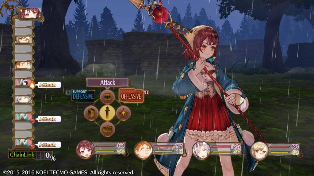 Atelier Sophie - Combat choix attaque