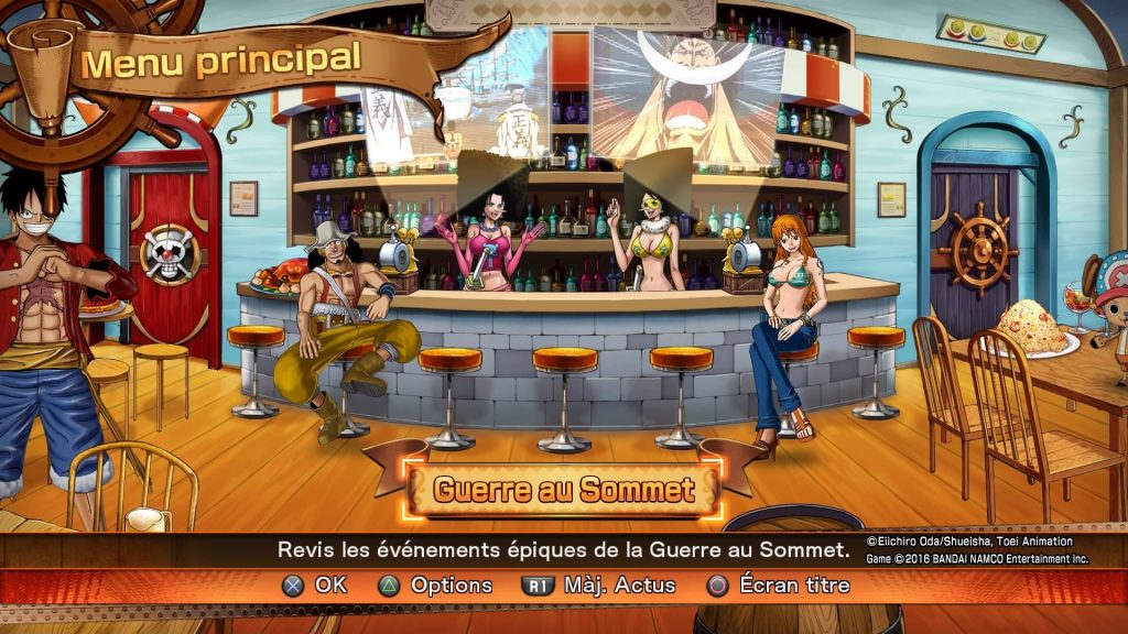 One Piece Burning Blood PS4 - Accueil