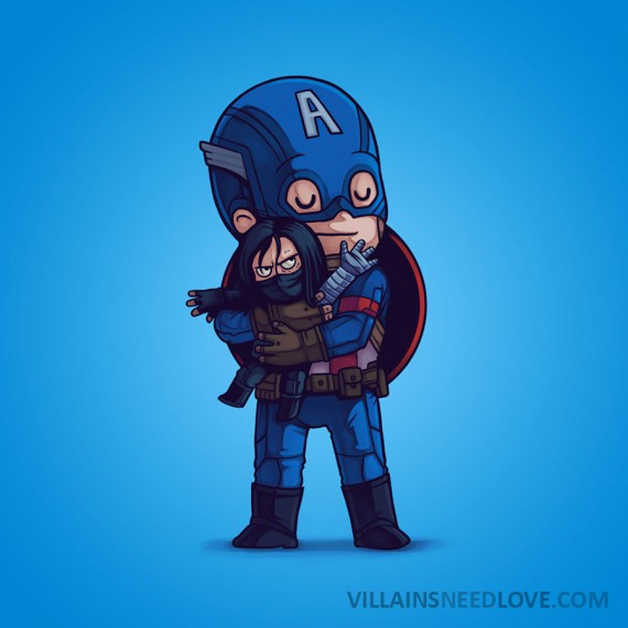 Villains need love - Captain America