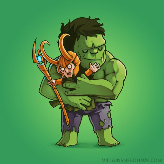 Villains need love - Hulk