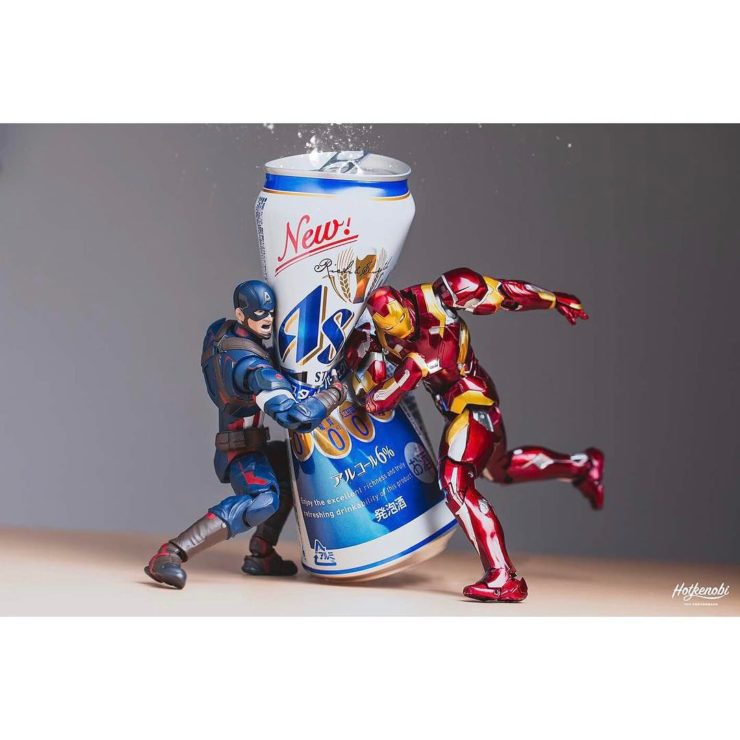 figurine captain america et iron man