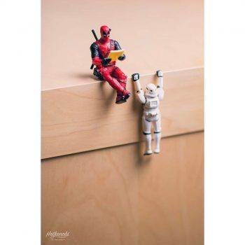 figurine deadpool et stormtrooper