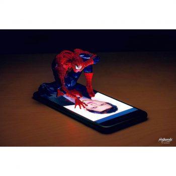 figurine spiderman art
