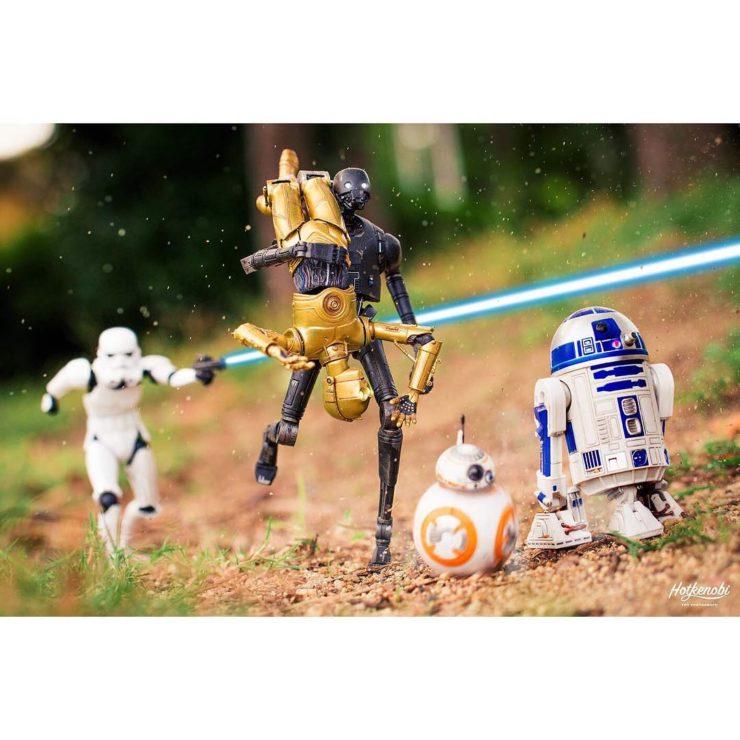 figurines star wars avec bb8 et r2d2