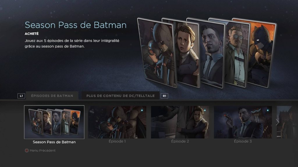 Batman : The Telltale Series - Aventure episodique avec Bruce Wayne