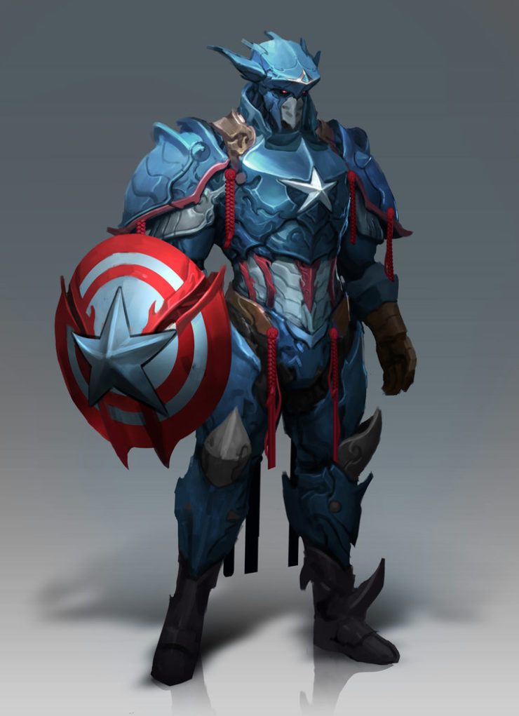 Captain america redesigned