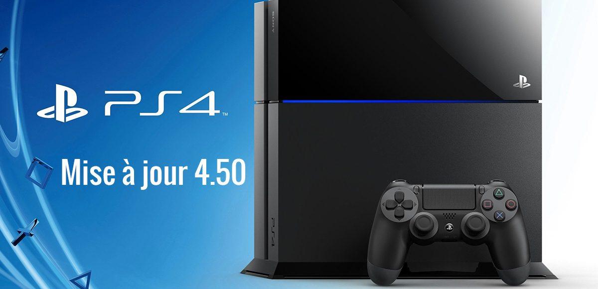 Mise à jour PS4 avec prise en charge disque dur externe
