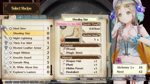 Atelier Firis Gameplay Alchemy Recette