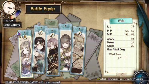 Atelier Firis Gameplay Perso