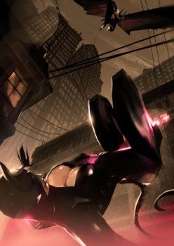 Catwoman & Batman by lorenzonuti